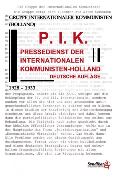 V115: Gruppe Internationaler Kommunisten (Holland) - P.I.K. Pressedienst der Internationalen Kommunisten-Holland
