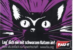 Aufkleber 45: Leg dich nicht mit schwarzen Katzen an!