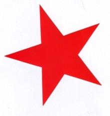 Aufkleber 11: Stern rot gross