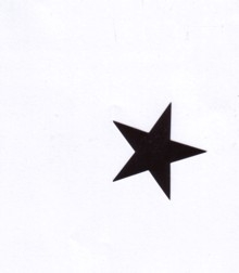 Aufkleber 17: Stern schwarz klein