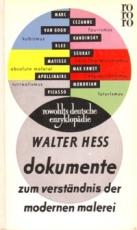 * Hess: Dokumente zum Verständnis der modernen Malerei