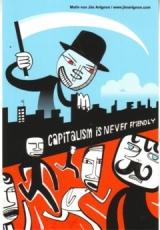 Aufkleber 34: Capitalism is never friendly