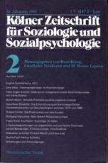 * Kölner Zeitschrift für Soziologie und Sozialpsychologie 36. Jahrgang 1984 Nr. 2