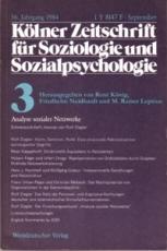 * Kölner Zeitschrift für Soziologie und Sozialpsychologie 32. Jahrgang 1980 Nr. 3