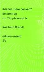 B339: R. Brandt - Können Tiere denken?  Ein Beitrag zur Tierphilosophie