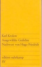 * Krolow: Ausgewählte Gedichte. Nachwort von Hugo Friedrich