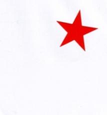 Aufkleber 16: Stern rot klein