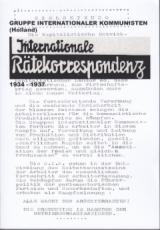 """B799: H.-P. Jacobitz & T. Königshofen (Hrsg.) - """"Gruppe Internationaler Kommunisten (Holland): Internationale Rätekorrespondenz"""""""